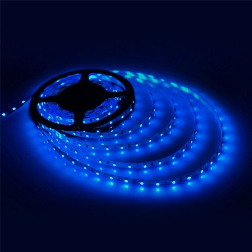 Mstar Led Light Bar 300-Led Waterproof Flash Led Strip 5M Smd 3528- Blue And Power Adapter