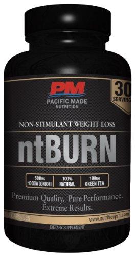 Ntburn Non-Stimulant Weight Loss / 100% Natural Fat Burner / 60 Capsules, 30 Servings