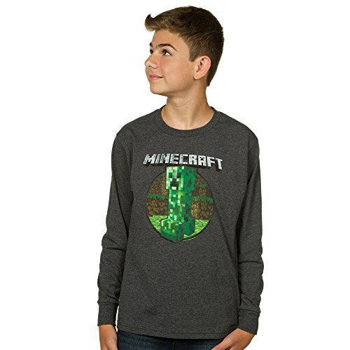 Minecraft Retro Creeper Boys 8-20 Long Sleeve T-Shirt Medium