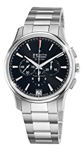 Zenith Men's 03.2110.400/21.M2110 El Primero Captain Black Chronograph Dial Watch from Zenith