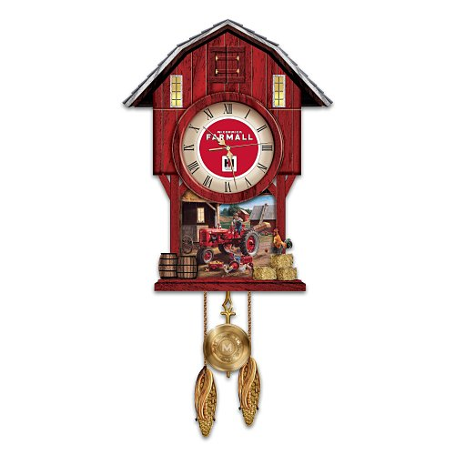 Farmall Times Barn-Shaped Cuckoo Clock by The Bradford Exchange