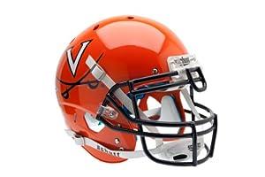 NCAA Virginia Cavaliers Authentic XP Football Helmet, Orange Navy by Schutt