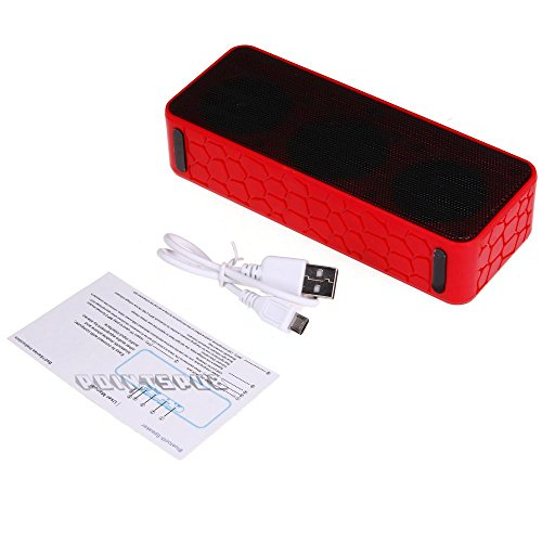 Shaddock Bluetooth Wireless Stereo Speaker Tf Card For Mobile Laptop Pc Red