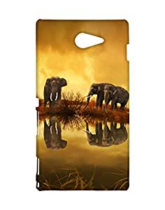 Mobifry Back case cover for Sony Xperia M2 Mobile ( Printed design)