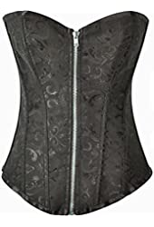 Alivila.Y Fashion Sexy Tapestry Overbust Corset 2340 With G-String