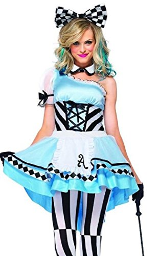 Women's Alice in Wonderland Style Cosplay Costume,Gothic Lolita French Fancy Dress