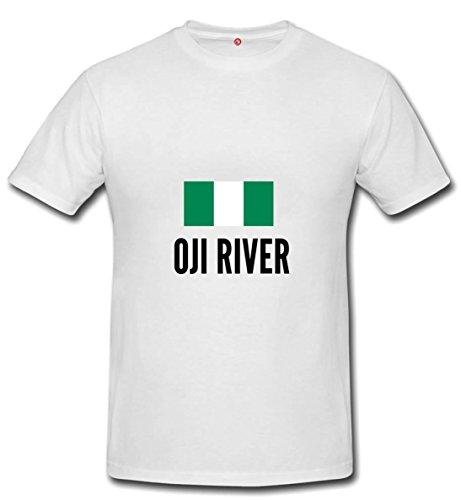 T-shirt Oji river city white