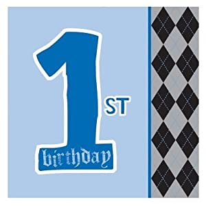 Creative Converting 201238 Lil Rebel 1st Birthday Lunch Napkins