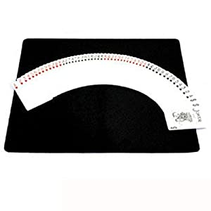 High Quality Professional Magician Card Mat Pad for Poker&coin Magic Props-black Large Mat(60x40cm)