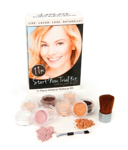 Southern Magnolia Cosmetics Mineral Makeup Start Now Trial Starter 11 Piece Kit | Fair / Light Complexion | Get Started Now