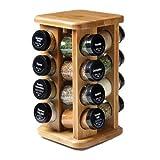 Kamenstein 16 Jar Revolving Bamboo Spice Rack