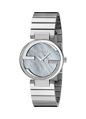 Gucci  YA133509 - Reloj de cuarzo para mujer, con correa de acero inoxidable, color plateado