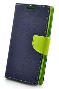 Johra Premium Fancy Diary Wallet Blue Flip Cover Case for Oppo Neo 7 Flip Cover