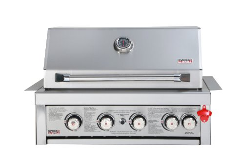 Buy Built-In 460, Zurich Series All Stainless Steel 4 Burner Unit, Infrared Rear Burner and Rotisserie Kit