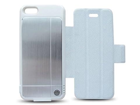 iPhone5用 Lightningケーブル収納式バッテリーケース TG-IP5-008 (ホワイト)