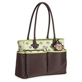 Carter's Novelty Tote Diaper Bag, Monkey Print by Carter's (English Manual)
