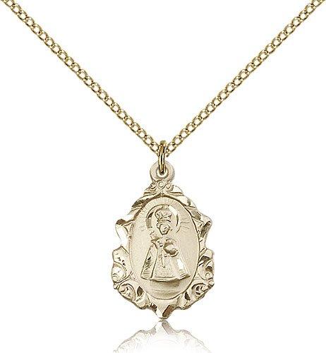 Gold Filled Infant of Prague Pendant