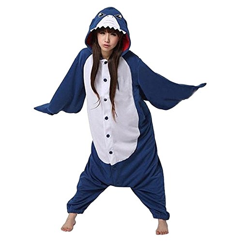 Unisex-adult Costume Kigurumi Flannel Anime Cartoon Onesie Pajama Loungewear XL Shark (Kigurumi Shark compare prices)
