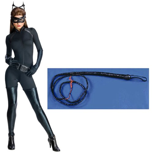 Batman The Dark Knight Rises Secret Wishes Catwoman Adult Costume (L) With Whip