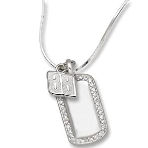LogoArt Dale Earnhardt, Jr. Sterling Silver Mini Dog Tag - Dale Earnhardt, Jr Each by Logo Art