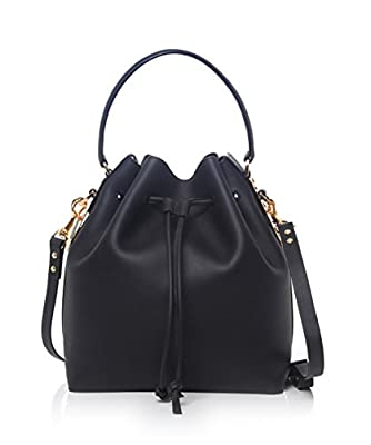 Sophie Hulme Large Drawstring Bucket Bag Black