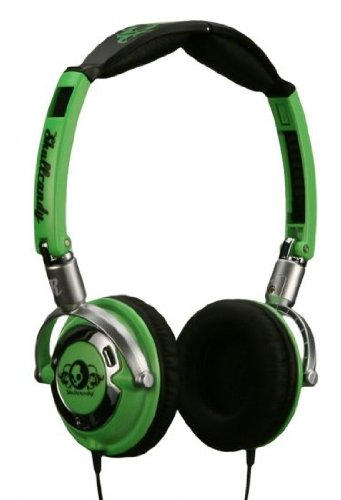 Skull Candy Lowrider Stereo Headphones In Lime / Black