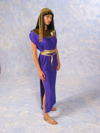 Cleopatra Costume with Gold Trim