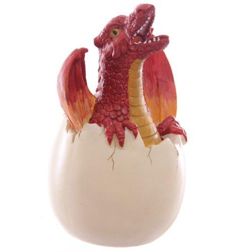 Quemador de incienso de huevo de dragón rojo