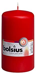 Bolsius Outdoor/Indoor Pillar Candle 130x70mm - Red from Ivyline