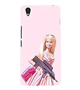 EPICCASE Armed Barbie Doll Mobile Back Case Cover For OnePlus X (Designer Case)