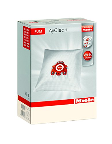 Miele Vacuum Cleaner Bags Type FJM AirClean S241-S256i S290-S291 S300i-S399 S500-S578 S700-S758 S4000-S4999 S6000-S6999