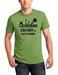 Pepperclub Men's Cotton Round Neck Half Sleeve Tshirt - Legends Are Born In October