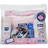 NEW NIVEA LADIES TRAVEL GIFT SET - DEODORANT, LIP BALM, SHOWER GEL & CREAM