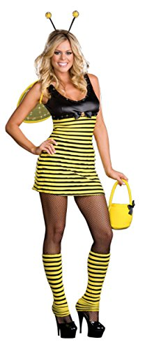 Dreamgirl Womens Buzzin' Around Bumble Bee Outfit Fancy Dress Sexy Costume