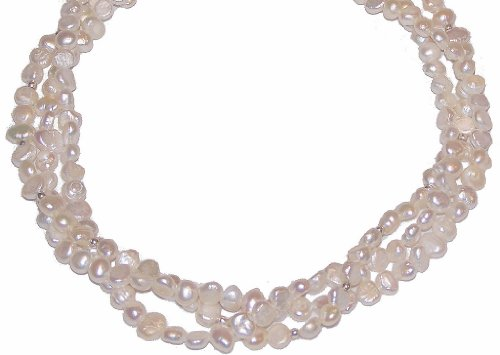 MyStrand Swirls of Pearls Necklace Set, Convertible Length 16