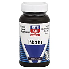 Rite Aid Pharmacy Biotin, 1000 mcg, Tablets, 120 tablets
