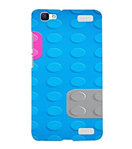PrintVisa Lego Block Pattern 3D Hard Polycarbonate Designer Back Case Cover for Vivo V1 MAX