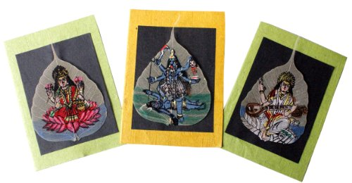 A Set of 3 Eco-friendly Handpainted-Diwali,New