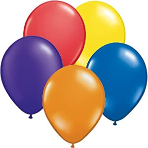 Pack of 500 Assorted Colours Latex Party Balloons (100x Yellow