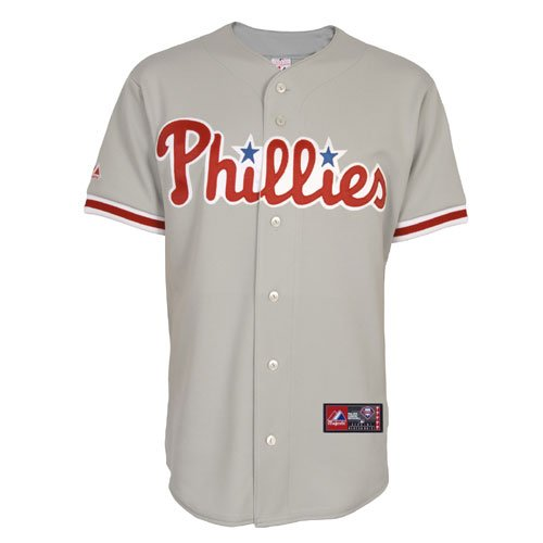 MLB Philadelphia Phillies Away Replica Jersey, Gray, Large at Amazon.com