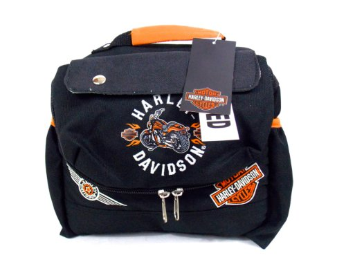 harley-davidson-black-nylon-insulated-sandwich-lunch-bag-tote