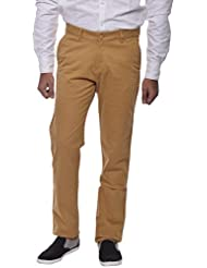 COTTON COLORS Men's Semi-casuals Khaki Trouser