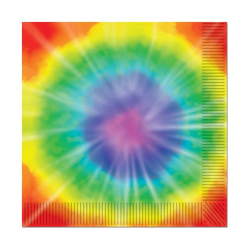 Tie-Dyed Beverage Napkins (2-Ply)    (16/Pkg)