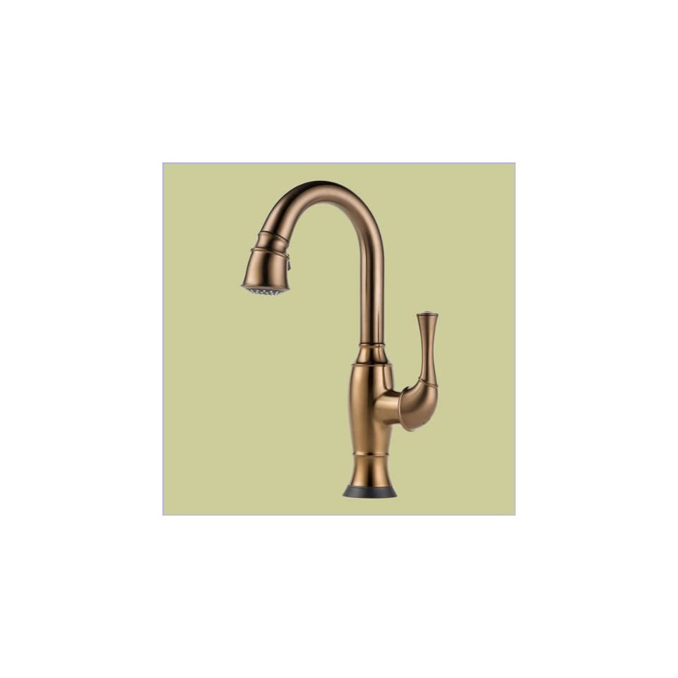 Brizo Faucets 64903LF BZ Single Handle Pull Down Bar Prep Faucet With Smarttouch Technology Brushed Bronze Brilliance
