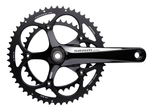 SRAM GXP 172.5mm 50-34T Black Apex Compact Crankset with BB