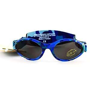 BBN011 LUNETTES DE SOLEIL CAMO BLUE PROTECTION UV 400 TAILLE 0-2 ans