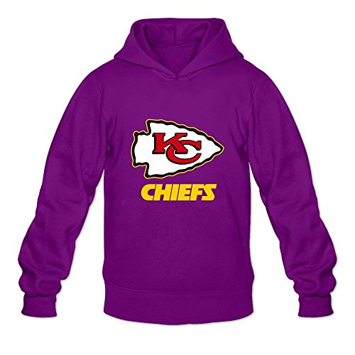 Kansas City Chiefs Football Customized Men's Hoodies Sweatshirt Purple Size XL By Yisw (Ball Customized compare prices)