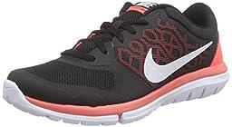 Nike Women\'s Flex 2015 Rn Black/White/Hot Lava Running Shoe 10 Women US