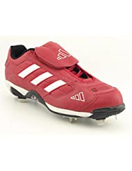 Adidas Excelsior Low Baseball Cleats Baseball Cleats Shoes Red Mens