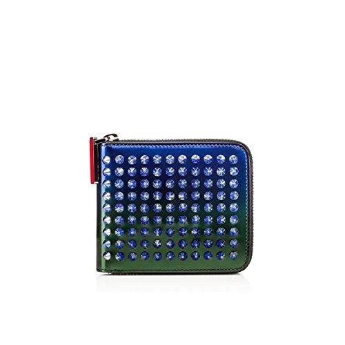 (クリスチャン ルブタン)Christian Louboutin Panettone Spikes Square Wallet Ocean Amazone Patent カラー: Ocean-Amazone メンズ 財布 ウォレット [並行輸入品]